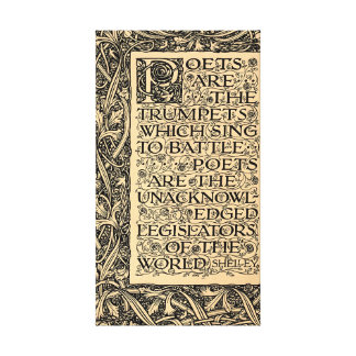 Poets Are - Shelley Canvas Prints