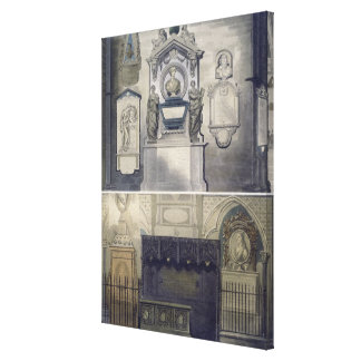 Poets' Corner, plate F from 'Westminster Abbey', e Canvas Print