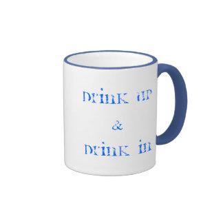 Poet's cuppa ringer mug