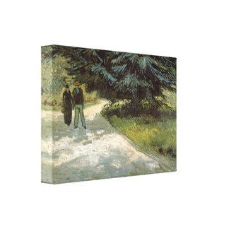 Poets Garden  by Vincent van Gogh Canvas Prints