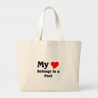 Poet's heart canvas bags