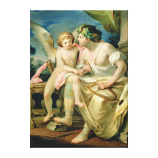 Poet's Inspiration, 1785 Stretched Canvas Print