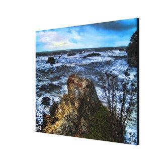 Poet's Retreat tempestuous seas wrapped canvas Canvas Print