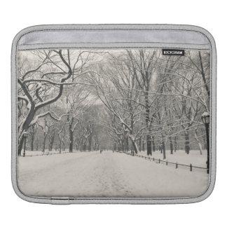 Poet's Walk - Central Park Winter iPad Sleeve