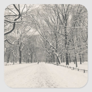 Poet's Walk - Central Park Winter Square Sticker