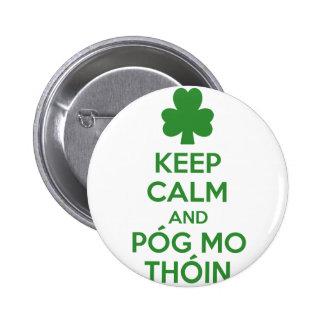 Pog mo thoin pinback button
