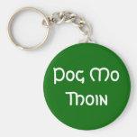 Pog Mo Thoin Basic Round Button Key Ring