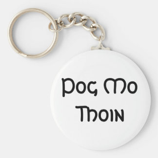 Pog Mo Thoin Basic Round Button Key Ring