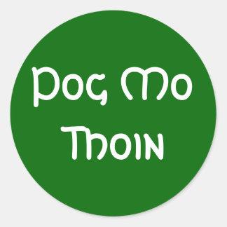 Pog Mo Thoin Classic Round Sticker