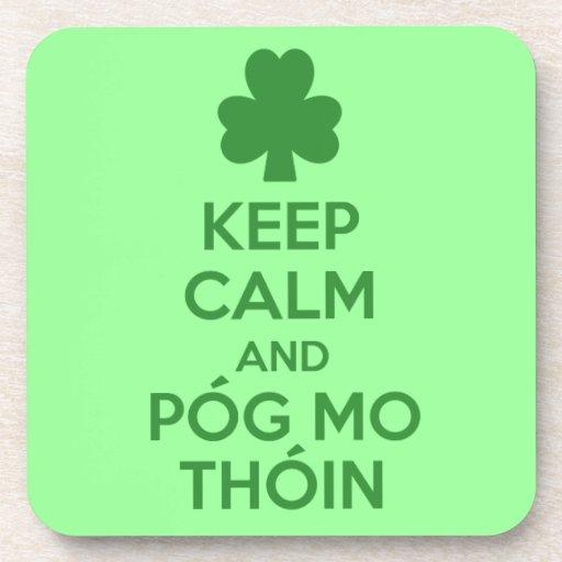 Pog mo thoin drink coaster