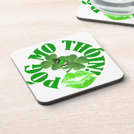 Pog mo thoin drink coasters