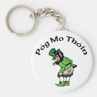 Pog Mo Thoin Gift Basic Round Button Key Ring