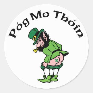 Pog Mo Thoin Gift Round Sticker