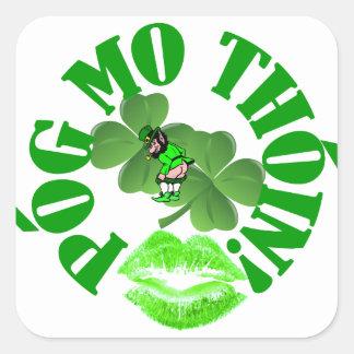 Pog mo thoin square sticker