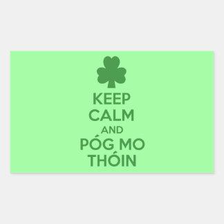 Pog mo thoin rectangular stickers