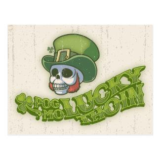 Pog Mo Wee Skull Postcard