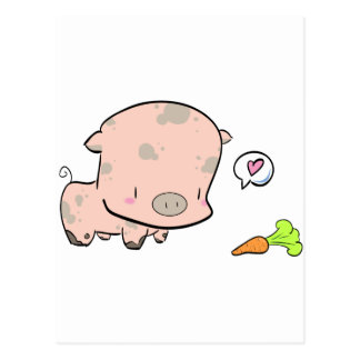 Pog the piggy postcard