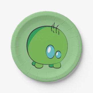 Pogo O.o Green Custom Paper Plates 7 Inch Paper Plate