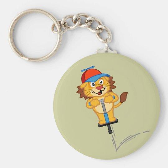 Pogostick Lion Basic Round Button Key Ring