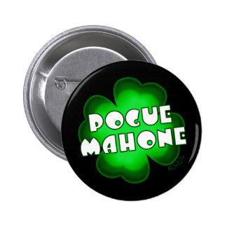 Pogue Mahone Shamrock 6 Cm Round Badge