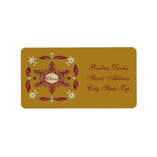 Pohutukawa Snowflake Cheers Address Label