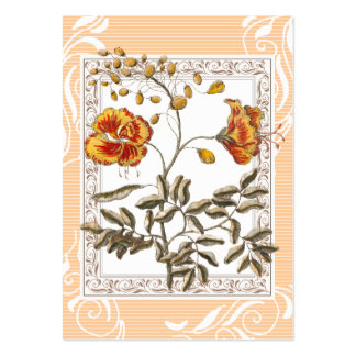 Poinciana Flame Tree Flowers Vintage Business Card Template