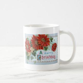 Poinsetta Basic White Mug