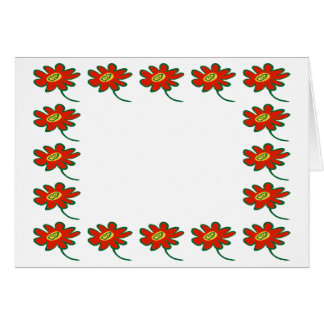 Poinsetta borders greeting cards