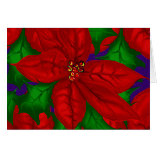 Poinsetta Bouquet Christmas Note Card