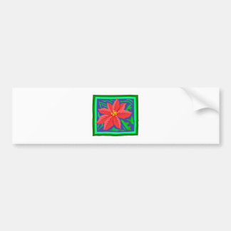 Poinsetta Bumper Sticker
