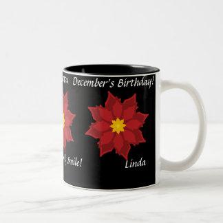Poinsetta December's Mug-Customize Two-Tone Mug
