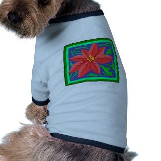 Poinsetta Dog T Shirt