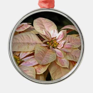 Poinsetta Fair Silver-Colored Round Decoration