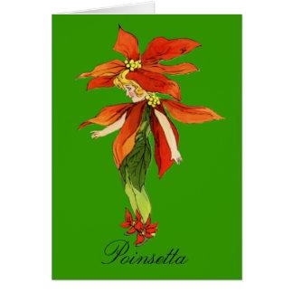 Poinsetta  - Flower Children Blank Notecard Greeting Card
