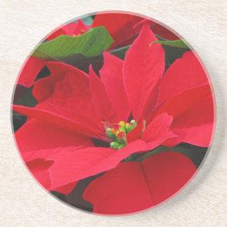 Poinsetta Holiday Coaster 1
