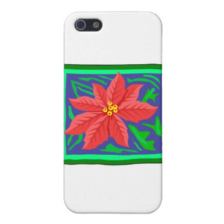 Poinsetta Cover For iPhone 5