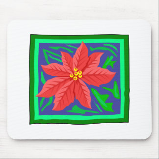 Poinsetta Mouse Pads