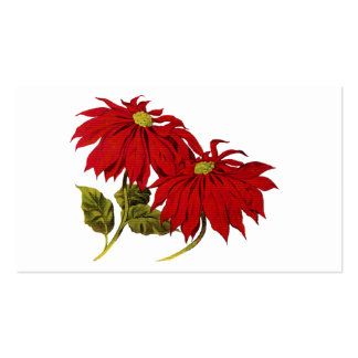 Poinsetta Pack Of Standard Business Cards