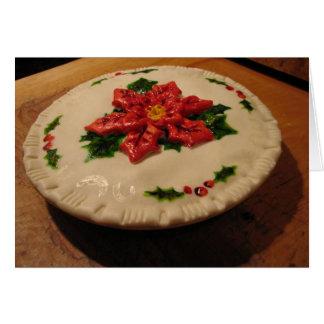 Poinsetta Pie I Greeting Card