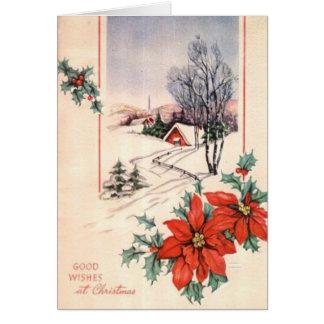 Poinsettas Greeting Card