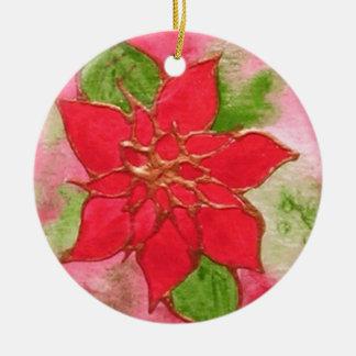 Poinsettia 1.JPG Christmas Ornament