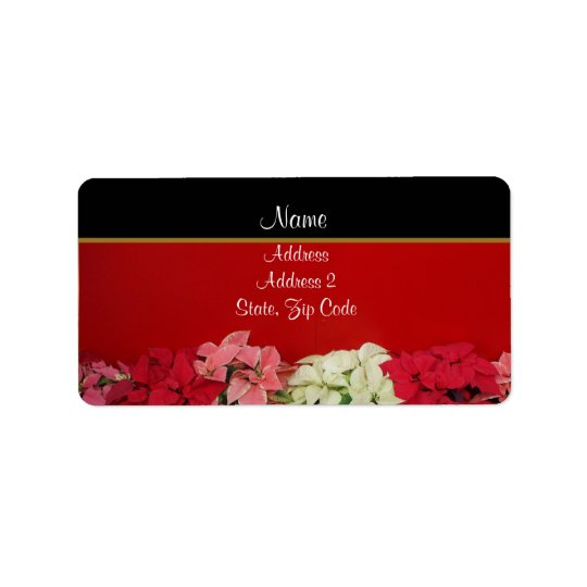 Poinsettia Address Labels