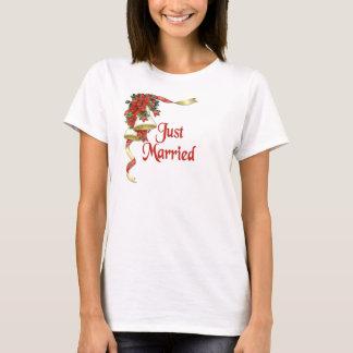 Poinsettia Bells Wedding T-Shirt