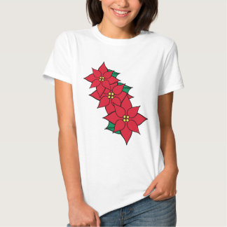 Poinsettia Blooms Holiday T-Shirt