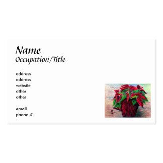 Poinsettia Business Card