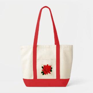 Poinsettia Christmas Bag