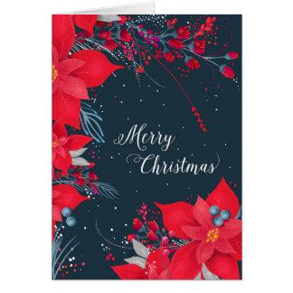 Poinsettia Christmas Card
