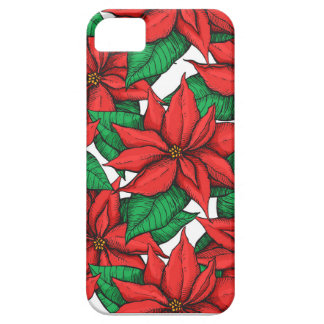 Poinsettia. Christmas decor flower iPhone 5 Covers