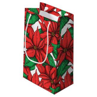 Poinsettia. Christmas decor flower Small Gift Bag