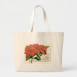 Poinsettia Christmas Flower Jumbo Tote Bag